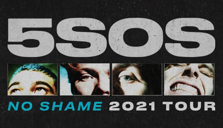 5 Seconds of Summer No Shame Tour 2021 Calendar