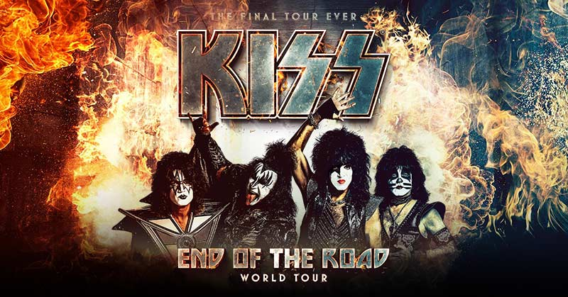 KISS End of the Road World Tour Dates 2021 Calendar