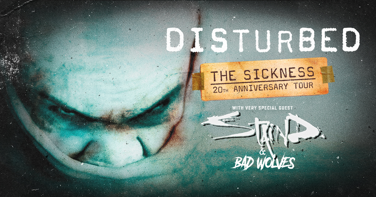 Disturbed The Sickness 20th Anniversary Tour Dates 2021 Calendar