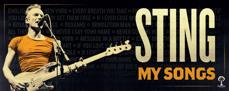 Sting My Songs Tour 2021 Calendar