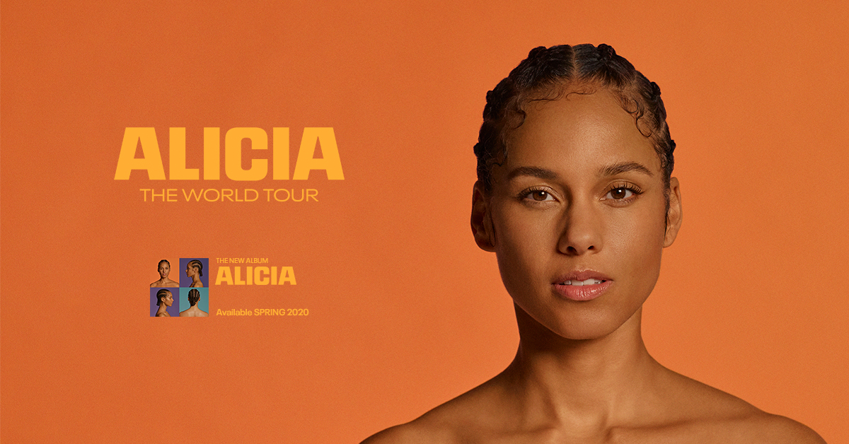 Alicia Keys ALICIA World Tour Dates 2021 Calendar