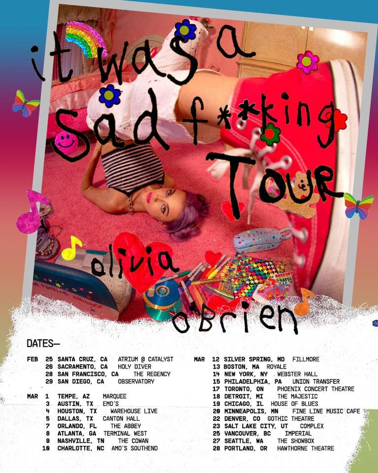 Olivia O'Brien The Olivia O' Brien Show Tour Dates 2021 Calendar