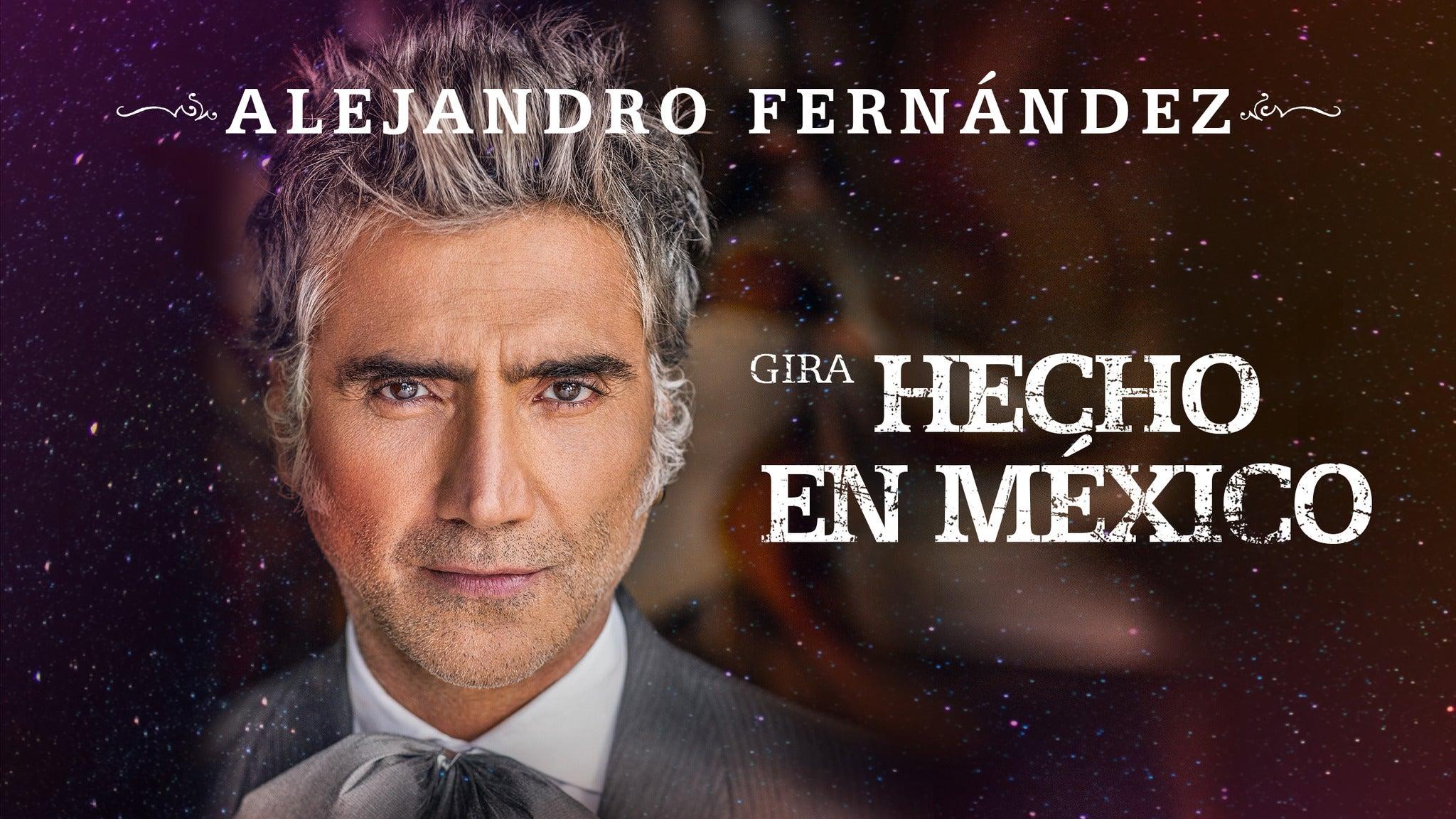 Alejandro Fernández Hecho En Mexico Tour Calendar