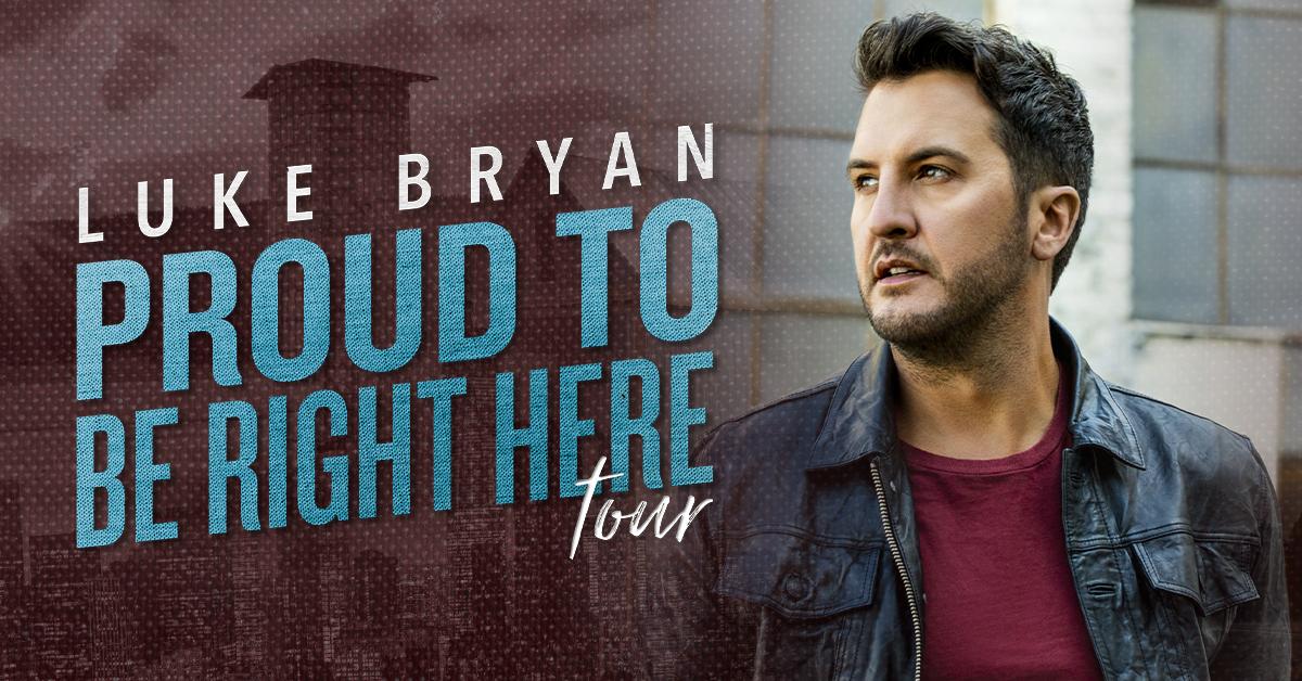 Luke Bryan Proud To Be Right Here Tour Dates 2021 Calendar