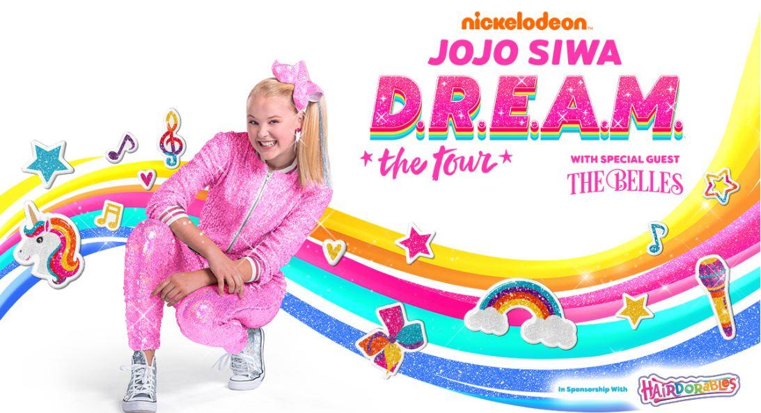 JoJo Siwa DREAM the Tour Dates 2021 Calendar