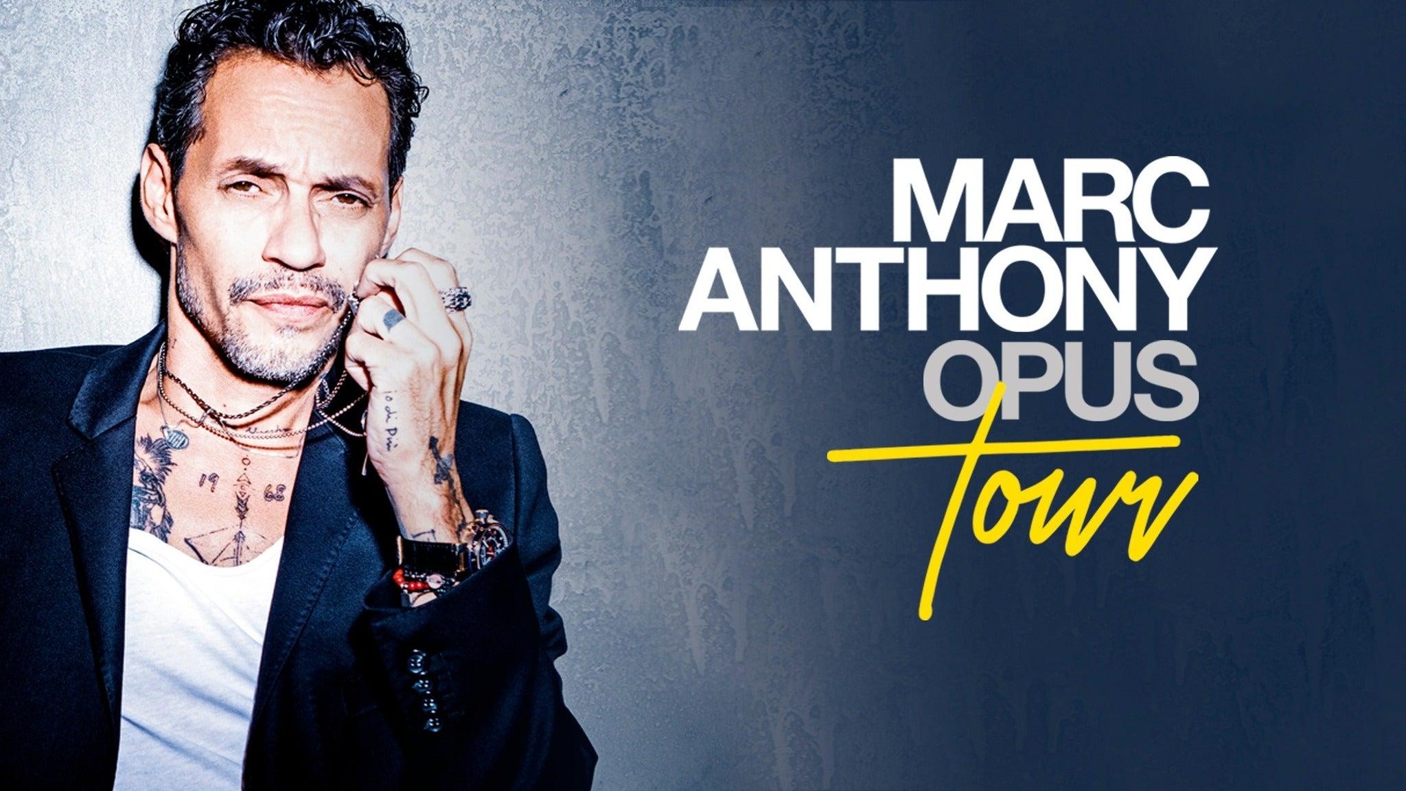Marc Anthony Opus Tour Dates 2021 Calendar