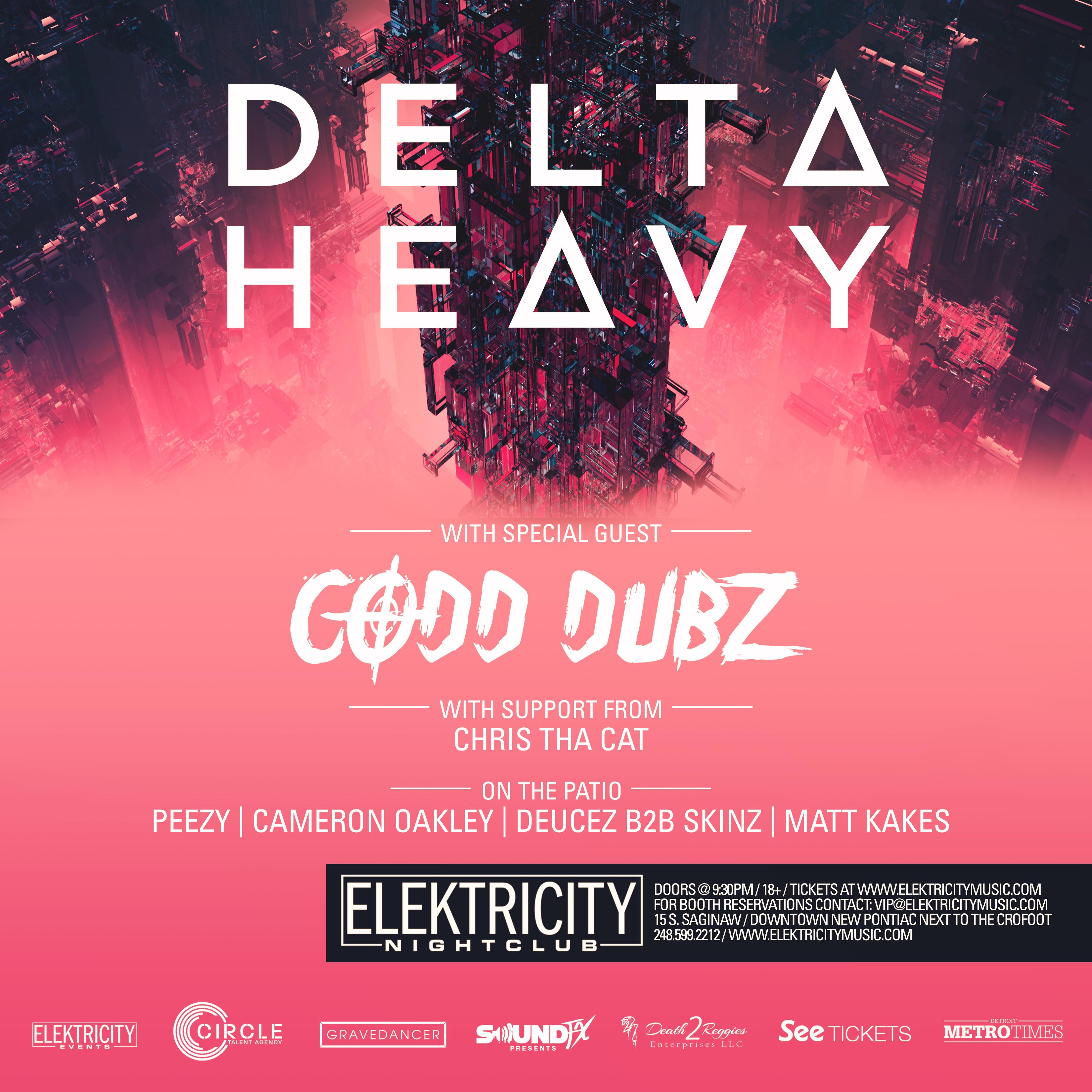 Delta Heavy + Codd Dubz At Elektricity   Friday, Feb 23   Guestlist,  Tickets, And Bottle Service | Discotech