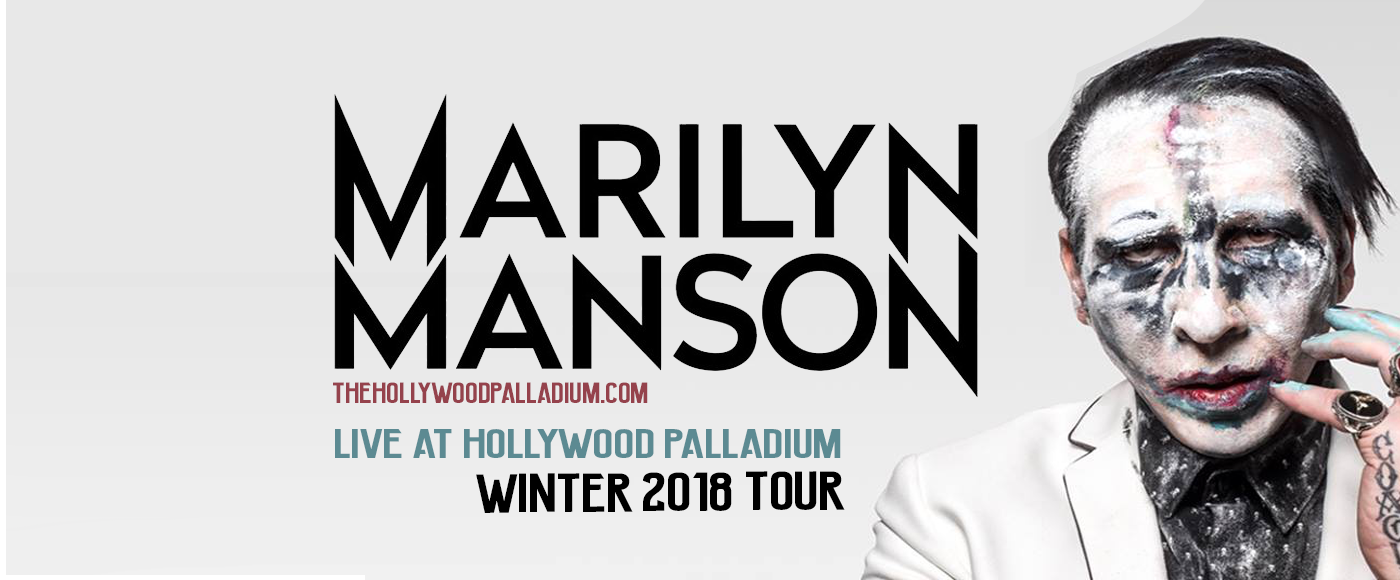 Marilyn Manson At Palladium Monday Jan 15 Guestlist Tickets