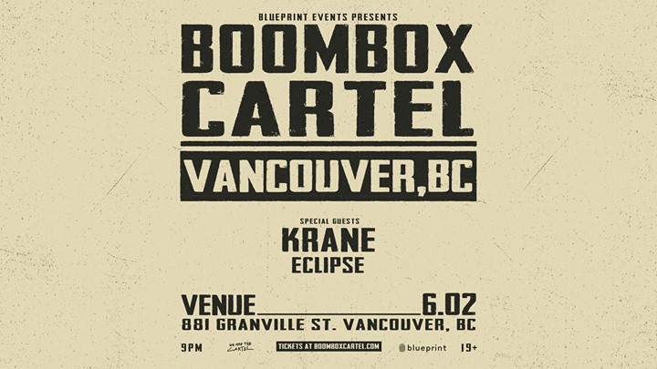 Boombox cartel at venue saturday jun 2 guestlist tickets boombox cartel malvernweather Images