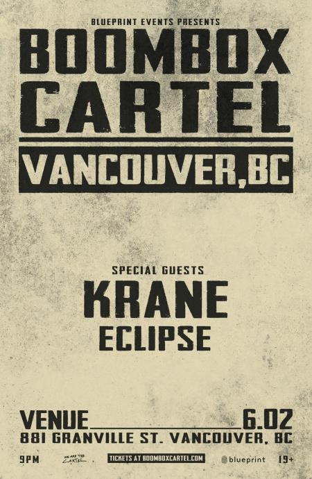 Boombox cartel at venue saturday jun 2 guestlist tickets and boombox cartel venue vancouver malvernweather Images