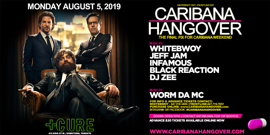 Caribana Hangover 2019 at Cure - Monday, Aug 5 - Guestlist, Tickets