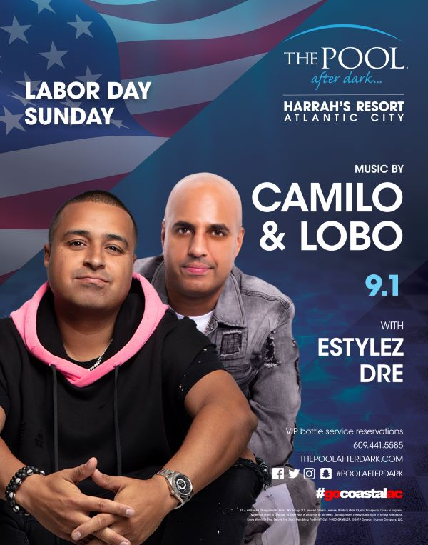 Labor Day Sunday with DJ Camilo and DJ Lobo at The Pool After Dark