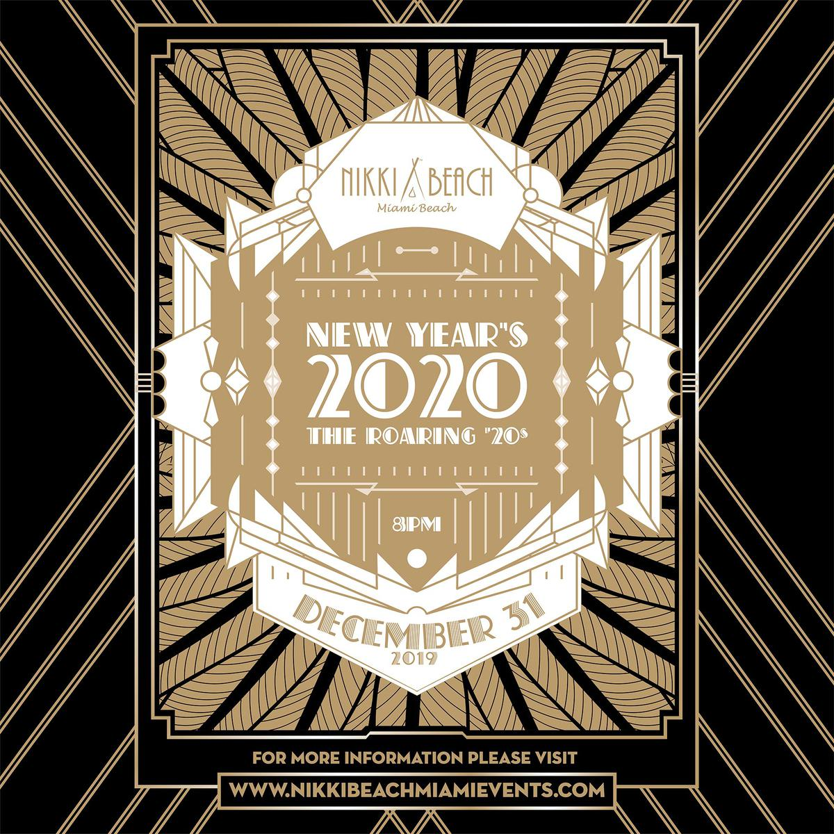 Miami New Years Eve 2020 Events.Roaring 20s New Year S Eve Party At Nikki Beach Tuesday