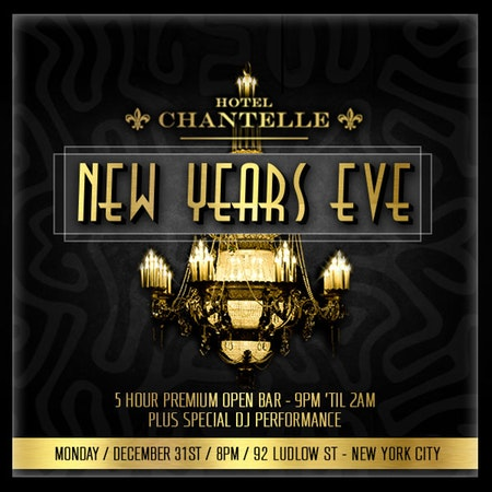 New Years Eve 2018 2019 At Hotel Chantelle