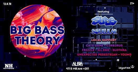Big Bass Theory Vol  1 ft SuDs at Aura - Saturday, Dec 8