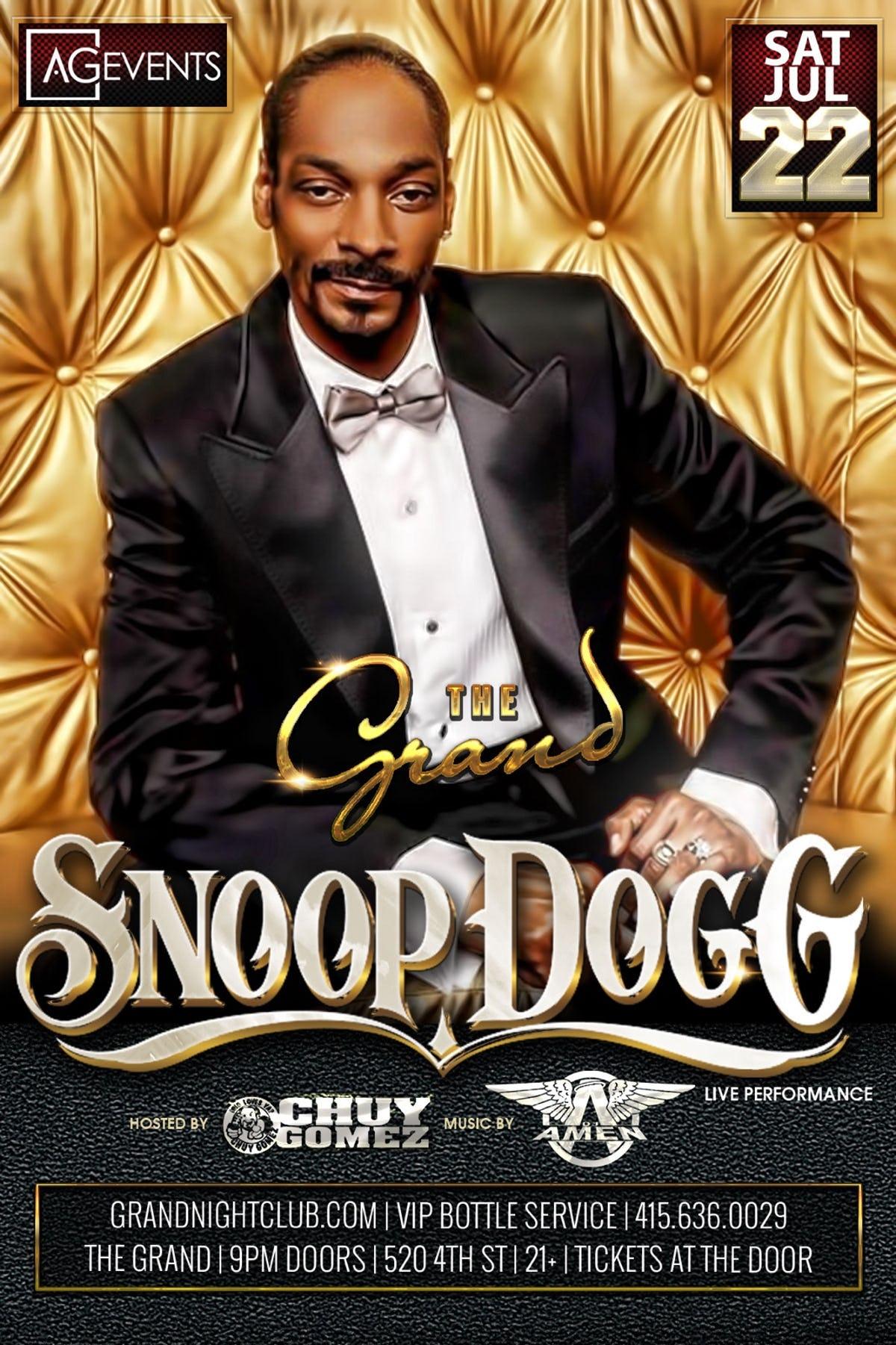 Snoop Dogg Saturday At The Grand Saturday Jul 22 Guestlist