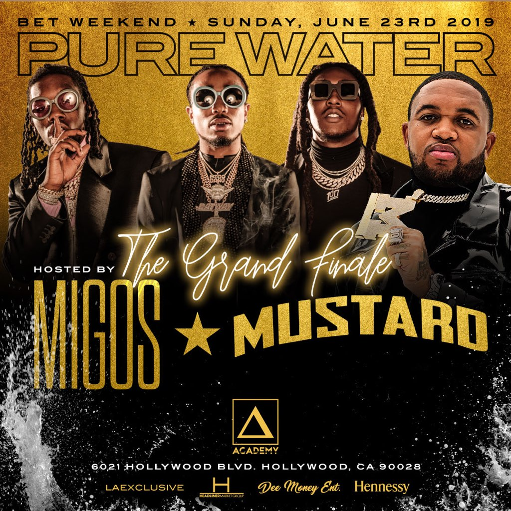 Migos + DJ Mustard - BET Weekend at Academy - Sunday, Jun 23