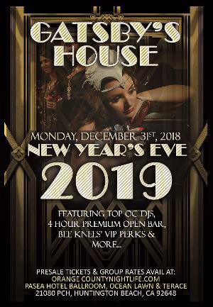 Gatsby's House - NYE 2018/2019 at Pasea Hotel - Monday, Dec 31