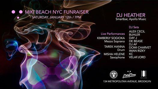 Miki Beach Nyc Fundraiser At 101brooklyn Saturday Jan 12