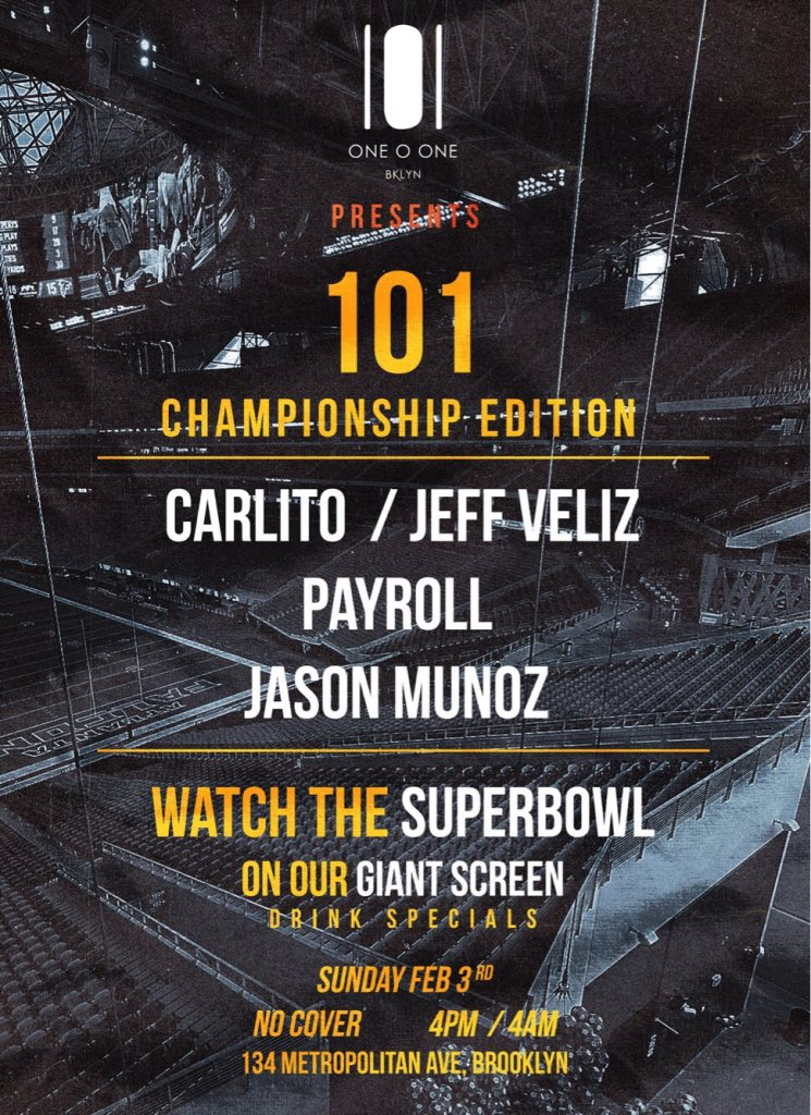 Super Bowl Viewing Party At 101brooklyn Sunday Feb 3 Guestlist
