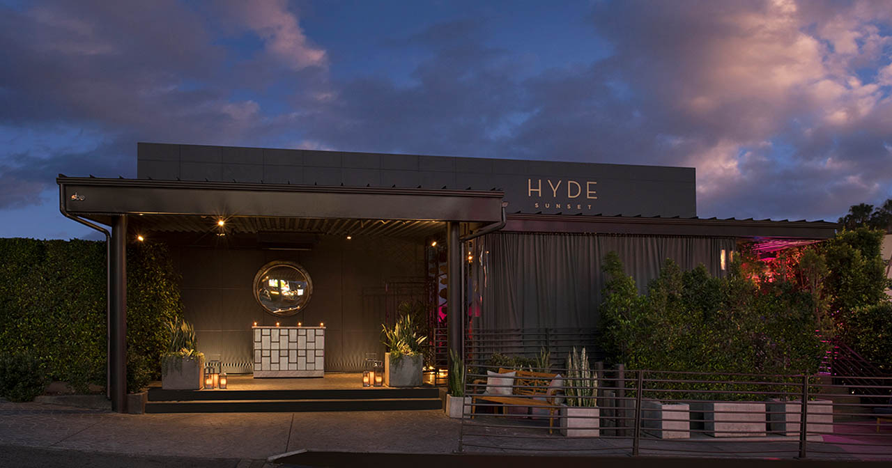 Inside look of Hyde Sunset with bottle service