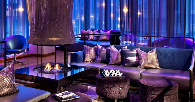 View of the interior of W Lounge at the W after getting free guest list