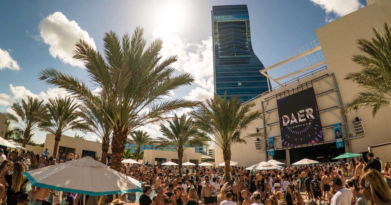 Inside look of Daer Dayclub with bottle service
