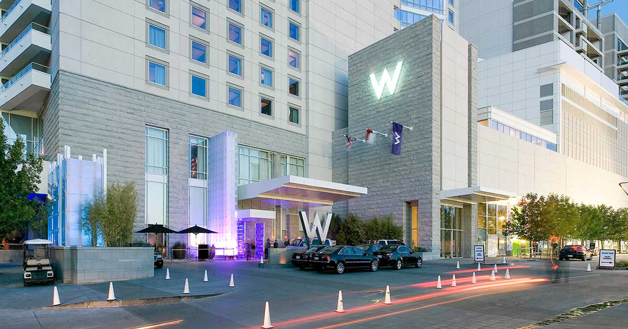 View of the interior of W Hotel after buying tickets