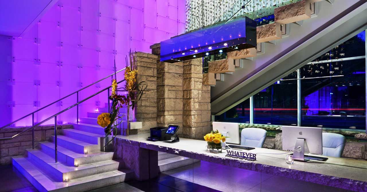 Inside look of W Hotel after buying tickets