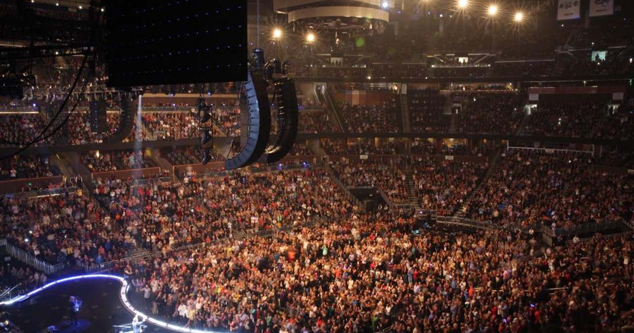 View of the interior of Amway Center after getting free guest list