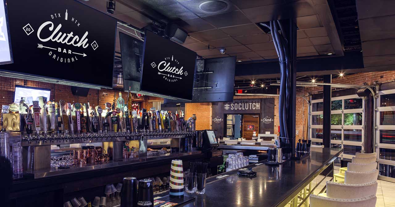 View of the interior of Clutch Bar after buying tickets