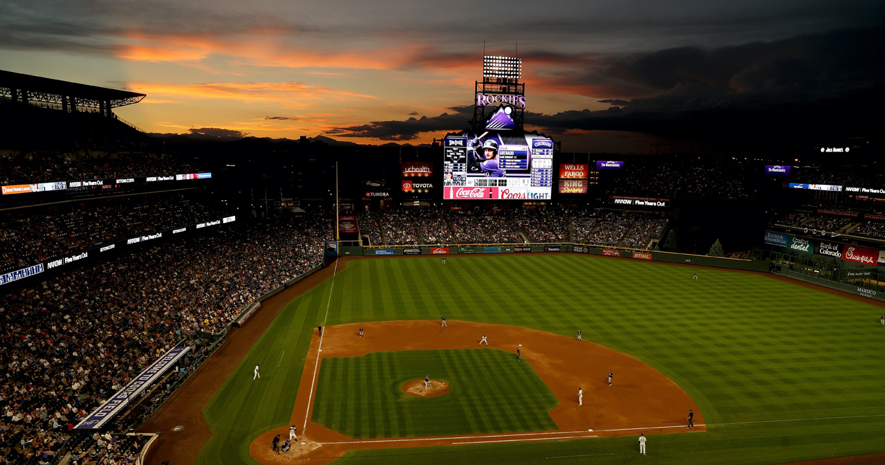 View of the interior of Coors Field after buying tickets