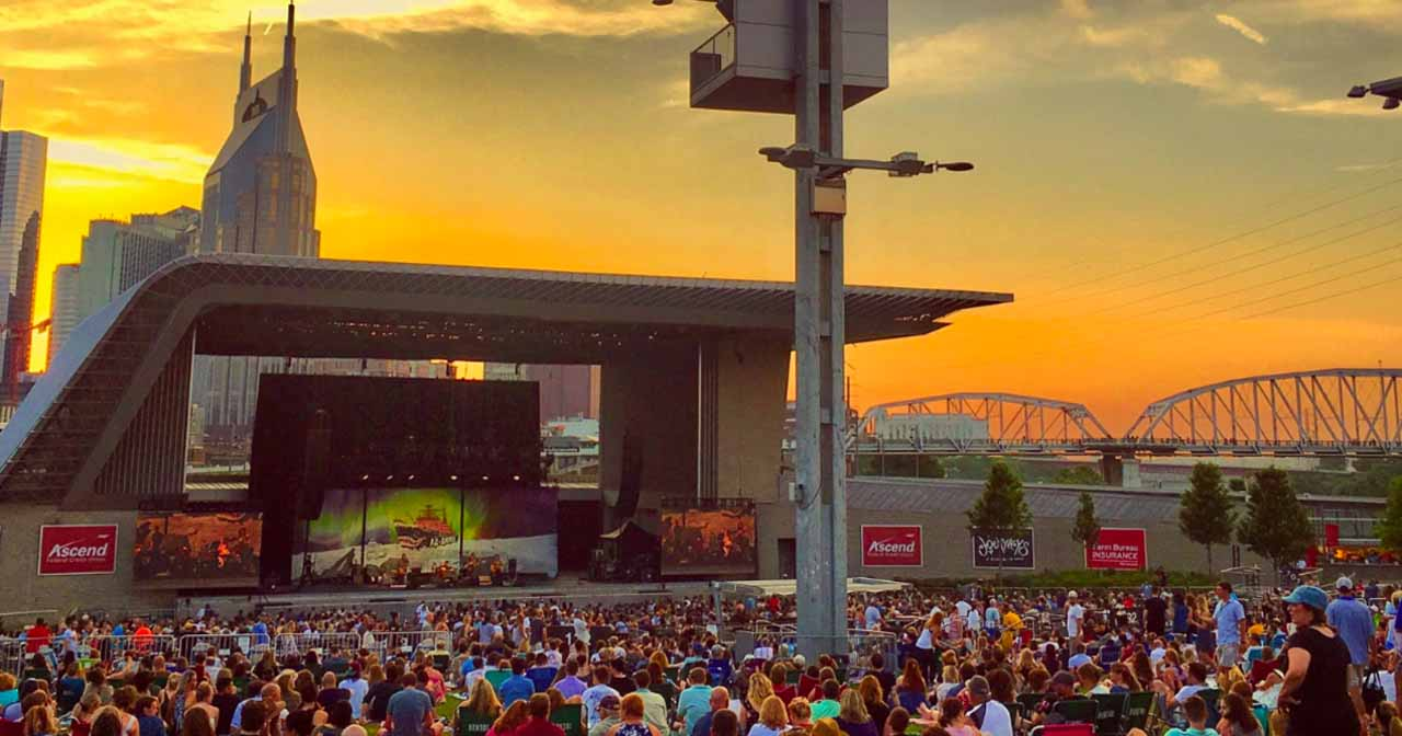 Inside look of Ascend Amphitheater with bottle service