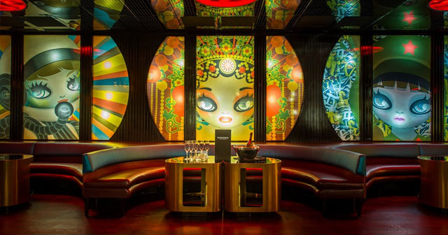 Inside look of Komodo Lounge with bottle service