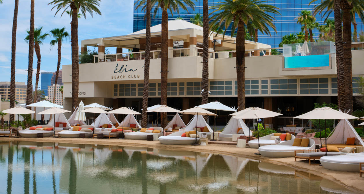 View of the interior of Elia Beach Club after getting free guest list