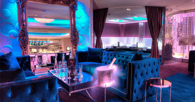 View of the interior of Champagne Room at Tipsy Alchemist