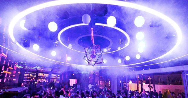 View of the interior of Maya Nightclub after buying tickets