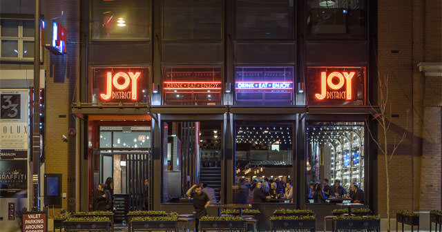 View of the interior of Joy District after getting free guest list