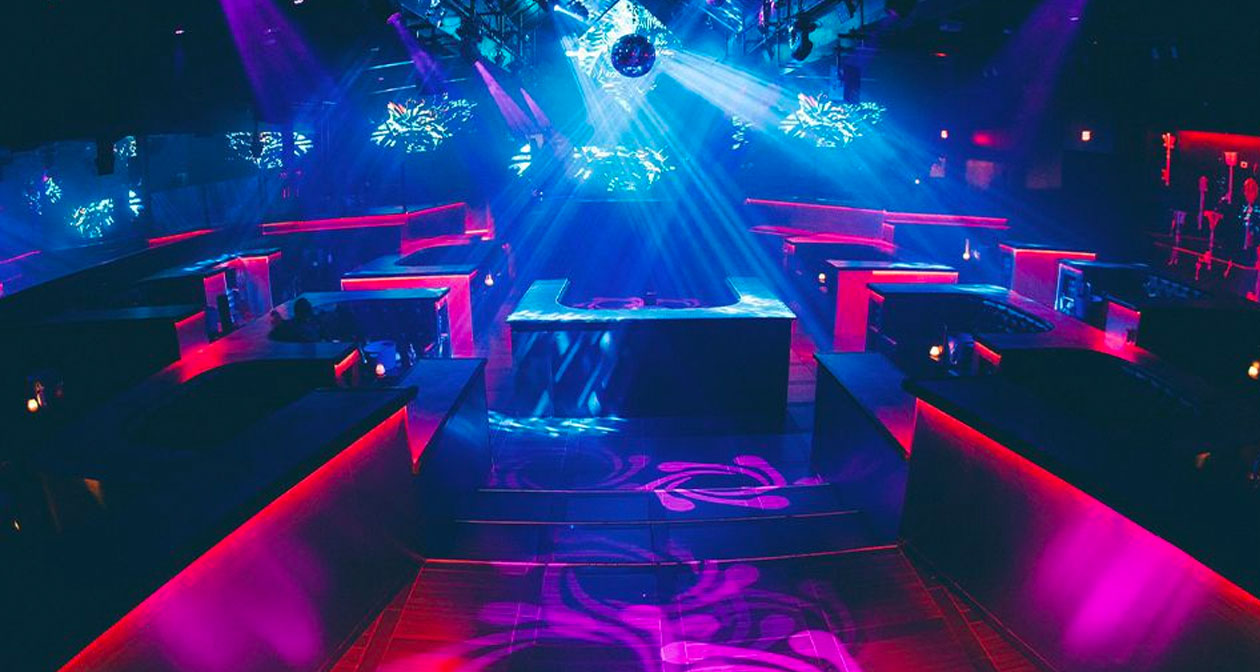 View of the interior of Clé Nightclub after getting free guest list