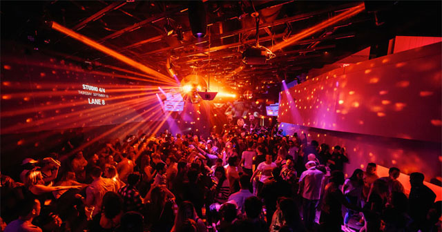 View of the interior of Q Nightclub after getting free guest list