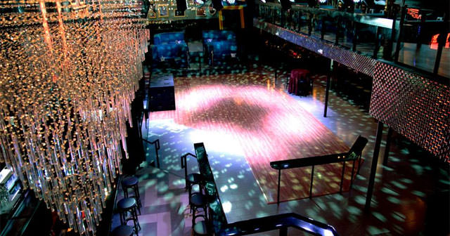 View of the interior of Gilt after getting free guest list