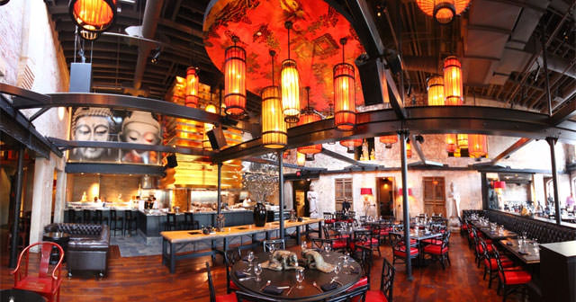 View of the interior of Red Lantern after getting free guest list