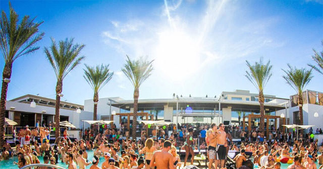 View of the interior of Maya Dayclub after getting free guest list
