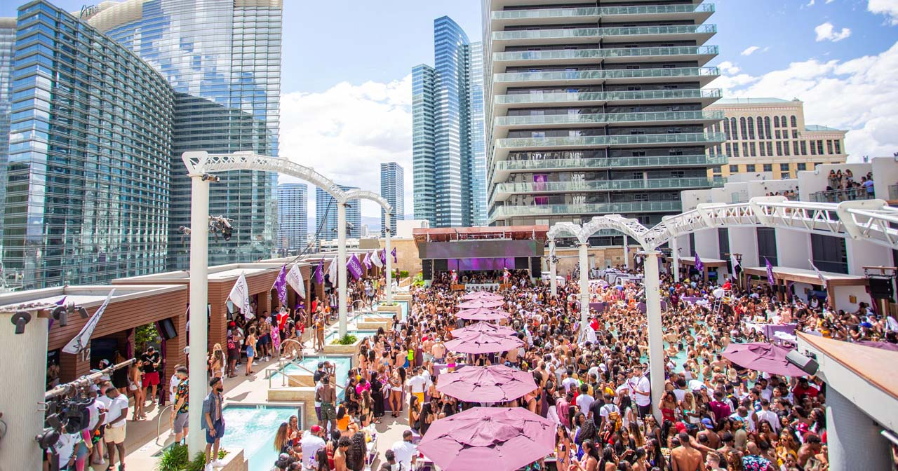 View of the interior of Marquee Dayclub