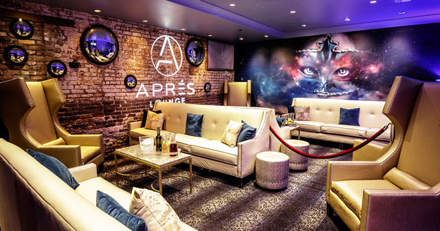 Inside look of Apres Lounge with bottle service