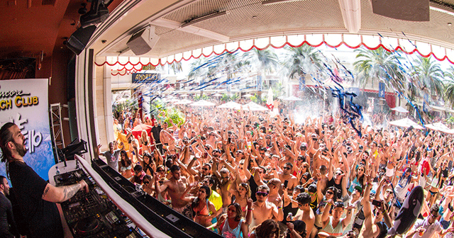 Inside look of Encore Beach Club after getting free guest list