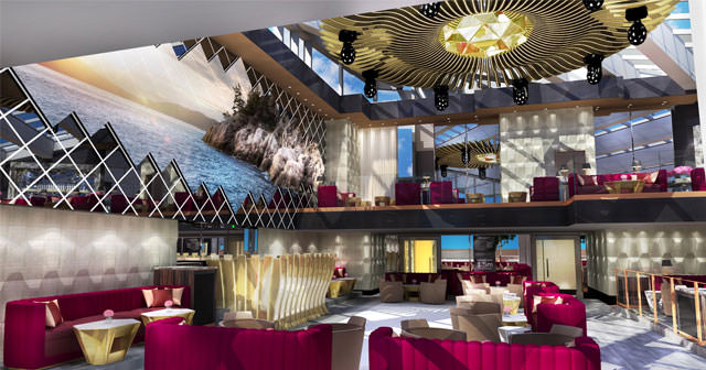 View of the interior of Drai's