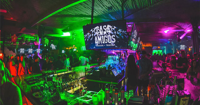 Inside look of Casa Amigos after getting free guest list