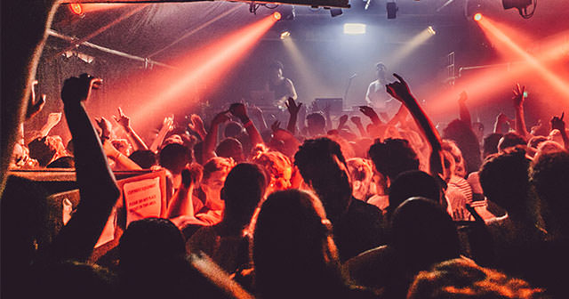 View of the interior of Corsica Studios after getting free guest list