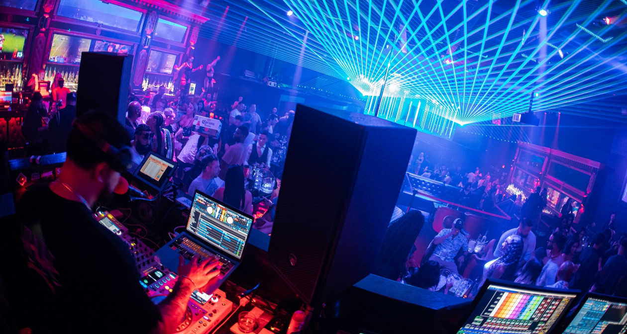 Inside look of Gold Rush Cabaret with bottle service